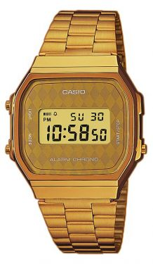 Casio Uhr Goldfarbig A168WG-9BWEF Retro Digitaluhr