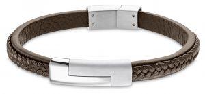 Lotus Style Armband schwarz rund LS1119-2-1 Lederarmband