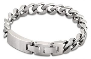Lotus Style Herren Armband Edelstahl silbern LS1553-2/1 Gravurplatte