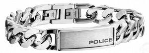Police Armband Panzerarmband PJ25534BSS-01-L 22 cm silber schwarz
