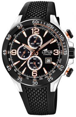 Lotus Herrenuhr 15974/1 Armbanduhr silber braun Lederarmband Chronograph