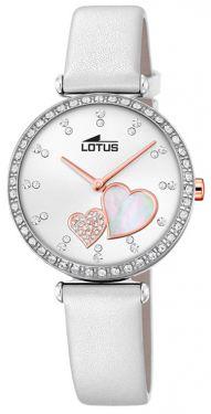 Lotus Damenuhr Armbanduhr Bliss Leder Armband weiß 18618/1