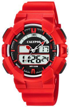 Calypso by Festina Unisex Uhr K5579/5 rotbraun digital analog Armbanduhr