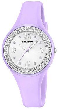 Damenuhr Calypso by Festina Damen Uhr K5575/1 weiß silber Strass Armbanduhr