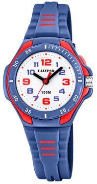 Kinderuhr Calypso Uhr blau gelb K5686/4 Kids Armbanduhr