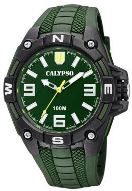 Herren Uhr Calypso by Festina Armbanduhr K5634/3 schwarz blau 10 ATM