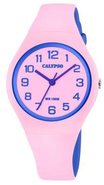 Damenuhr Calypso by Festina Armbanduhr K5671/1 weiß Silikonband