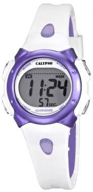 Calypso by Festina Kinderuhr K5609/2 weiß lila Digital Teenie-Uhr
