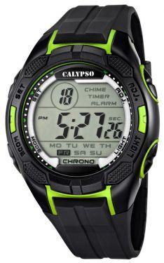 Calypso by Festina Herren Digital Uhr K5627/4 schwarz grün 10 ATM