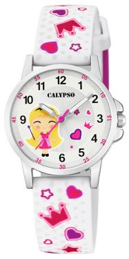 Calypso by Festina Kinderuhr K6067/4 schwarz weiß Mädchen Armbanduhr Silikon