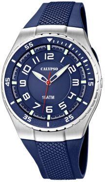 Calypso by Festina Armbanduhr K6063/2 Herren Uhr blau silber