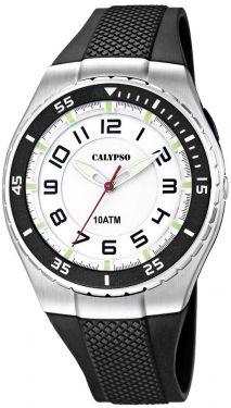 Calypso by Festina Armbanduhr K6063/3 Herren Uhr schwarz weiß