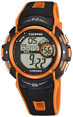 Calypso by Festina Unisex Uhr K5610/7 schwarz orange Digitaluhr 10 Bar