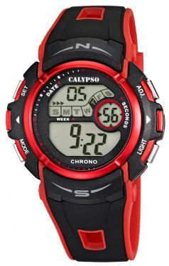 Calypso by Festina Unisex Uhr K5610/8 schwarz grau Digitaluhr 10 Bar
