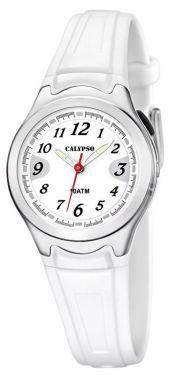 Calypso by Festina Kinderuhr K6067/1 weiß Mädchen Armbanduhr Silikon