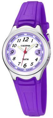 Calypso by Festina Kinderuhr K6067/2 lila Mädchen Armbanduhr Silikon