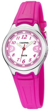 Calypso by Festina Kinderuhr K6067/3 rosa Mädchen Armbanduhr Silikon
