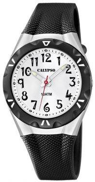 Calypso by Festina Damen Uhr K6064/2 Armbanduhr schwarz weiß