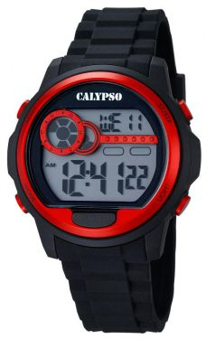 Calypso Digital Herrenuhr K5667/2 Digital Uhr schwarz rot