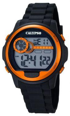 Calypso Digital Herrenuhr K5667/4 Digital Uhr schwarz orange