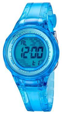 Calypso Jugenduhr Armbanduhr Digitaluhr K5688/1 blau transparent