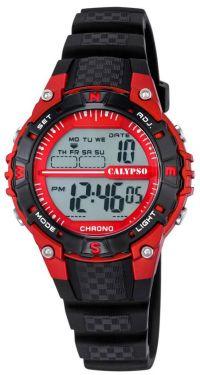 Calypso by Festina Sport Armbanduhr Jugend Uhr K5684/6 schwarz rot