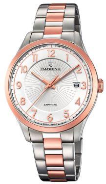 Candino Uhr Herrenuhr C4477/3 Chronograph Edelstahl silber schwarz
