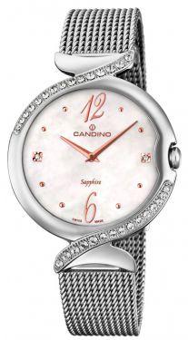 Candino Damen Armbanduhr Damenuhr Edelstahl C4568/1 Saphirglas
