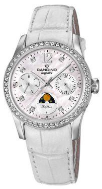 Candino Damen Armbanduhr C4596/1 Saphirglas Lederband