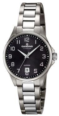 Candino Damen Uhr C4492/7 Edelstahl Armbanduhr silber schwarz