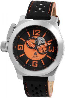 Carucci Automatikuhr CA2175BK-OR Herrenuhr Uhr Lederarmband