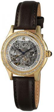 Carucci Damen Automatik Uhr Damenuhr CA2212GD braun vergoldet Carini