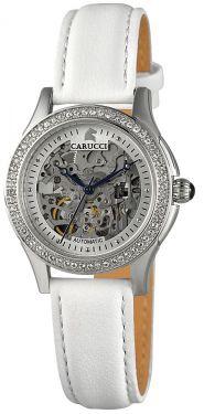 Carucci Damen Automatik Uhr Damenuhr CA2212SL weiß Carini