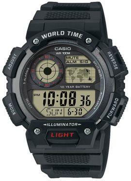 Casio Uhr AE-2000W-1AVEF Digital Uhr schwarz silber