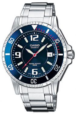Casio Uhr MTP-1302PD-1A1VEF Herrenuhr Edelstahl schwarz