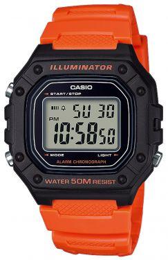 Casio Uhr W-735H-2AVEF Digitaluhr Vibrationsalarm blau