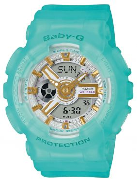 Casio Baby-G Uhr BA-110BC-1AER Armbanduhr schwarz Damenuhr