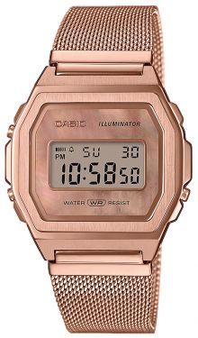 Casio Retro Uhr AQ-230GA-9DMQYES Ziffernblatt weiß vergoldet
