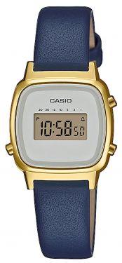 Casio Uhr Retro Damenuhr LA670WEGL-9EF braun gold Lederarmband