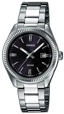 Casio Damen Uhr LTP-1302PD-7A1VEF Edelstahl weiß