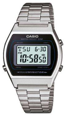 Casio Retro Uhr B640WD-1AVEF Digitaluhr Unisex Damen Herren silber