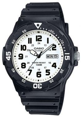 Casio Uhr MRW-200H-7EVEF analog schwarz weiss Datumsanzeige