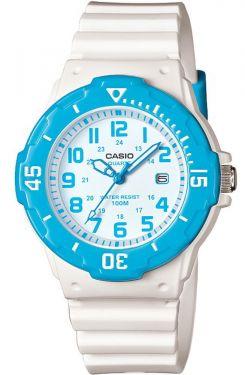 Casio Uhr Damenuhr LRW-200H-2BVEF weiß blau Datumsanzeige