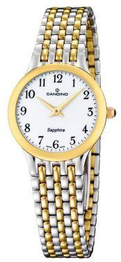 Candino Damen Armbanduhr bicolor C4415/3 Saphirglas Swiss Made