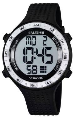 Calypso Herren Armbanduhr Digital Uhr K5663/1 schwarz silber