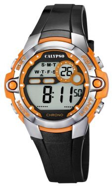 Digitaluhr Calypso by Festina Damen Uhr K5617/4 schwarz orange 10 ATM