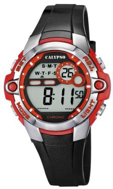 Digitaluhr Calypso by Festina Damen Uhr K5617/5 schwarz rot 10 ATM