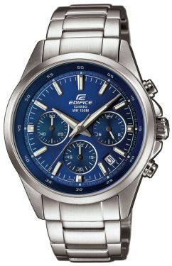 Casio Uhr Edifice Armbanduhr EFR-527D-2AVUEF Edelstahl silber blau