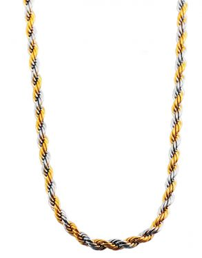 Halskette Kugel Anhänger gold-farbig Edelstahlkette 45 cm
