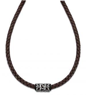Lotus Style Leder Halskette LS1563-1/2 Marc Marquez Anhänger schwarz silbern